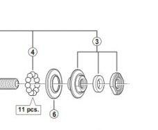Shimano HB-4500 Tiagra locknut unit | Wheel | Hub – Parts