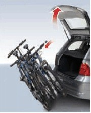 menabo wizard tilting towbar bike rack transportation